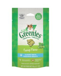 Feline Greenies Catnip Flavor Dental Treats [60g]