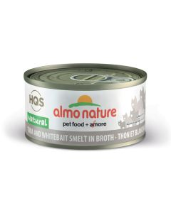 Almo Nature Natural Tuna and Whitebait Smelt in Broth Cat Food [70g]