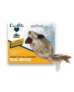 OurPets Shake Y'R Tail Feather Real Mouse
