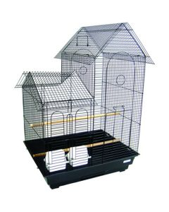 YML High Villa Top Bird Cage Black