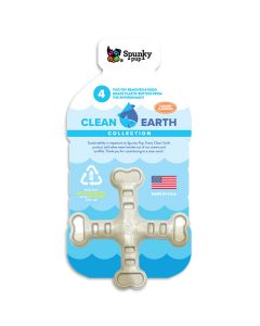 Spunky Pup Clean Earth Recycled Crossbones