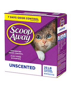 Scoop Away Super Clump Unscented Litter (25lb)*