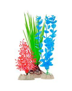 GloFish Plastic Plants Multipack