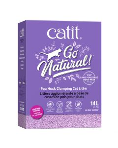 Catit Go Natural! Pea Husk Clumping Cat Litter Lavender [14L]