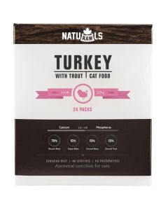 Naturawls Frozen Turkey with Trout Cat Food [6lb]
