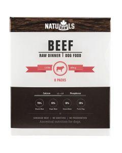 Naturawls Frozen Beef Raw Dinner Dog Food