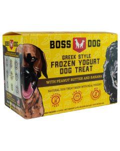 Boss Dog Greek Style Frozen Yogurt Dog Treat with Peanut Butter and Banana