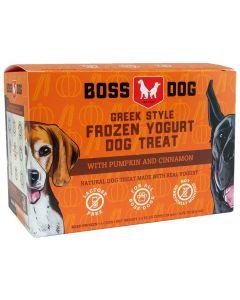 Boss Dog Greek Style Frozen Yogurt Dog Treat with Pumpkin and Cinnamon