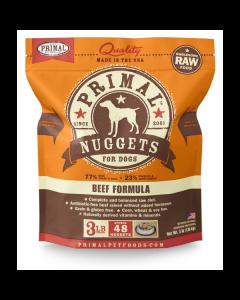 Primal Nuggets Beef Formula Raw Dog Food [3lb]