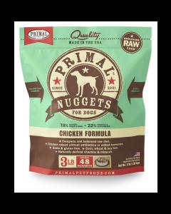Primal Nuggets Chicken Formula Raw Dog Food [3lb]