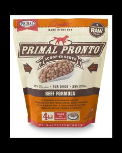 Primal Pronto Beef Formula Raw Dog Food