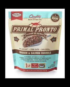 Primal Pronto Chicken & Salmon Formula Raw Cat Food [1lb]