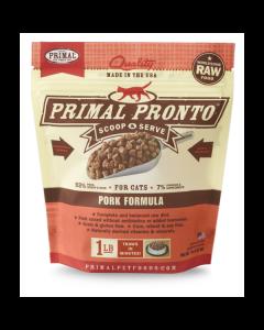 Primal Pronto Pork Formula Raw Cat Food [1lb]