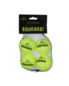Hyper Pet Squeaks! Tennis Balls [4 Pack]