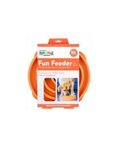 Outward Hound Fun Feeder Slo-Bowl Orange