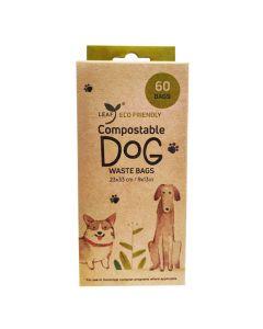 Leaf Compostable Dog Waste Bags Unscented [60 Bags]