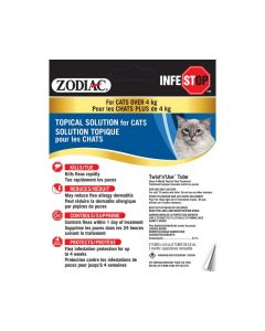 Zodiac Infestop Topical Solutions for Cats