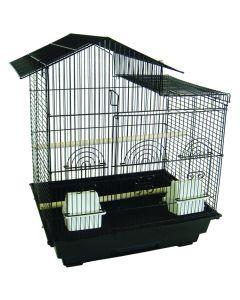 YML Low Villa Top Bird Cage Black