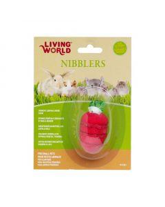 Living World Nibblers Strawberry Loofah/Wood Chew