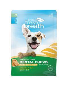 Tropiclean Fresh Breath Dental Chews Peanut Butter Dog Treats [Small - 312g]