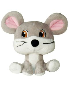 Dogit Luvz Big Heads Gray Mouse