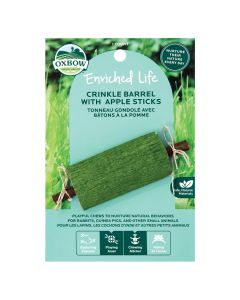 Oxbow Enriched Life Crinkle Barrel With Apple Sticks