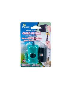 Paws Poop N' Scoop Clean Up Bag with Dispenser