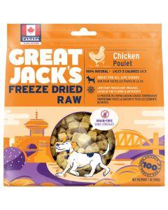 Great Jack's Freeze-Dried Raw Chicken Dog Treats [198g]