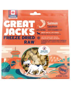 Great Jack's Freeze-Dried Raw Salmon Dog Treats [198g]