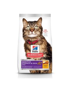 Hill's Science Diet Chicken & Rice Recipe Sensitive Stomach & Skin Adult Cat Food