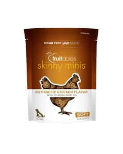 Fruitables Skinny Minis Rotisserie Chicken Flavor Chewy Dog Treats [141g]