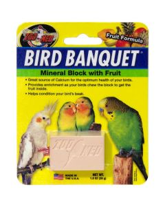 Zoo Med Bird Banquet Mineral Block with Fruit [28g]