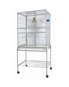 """Beaks! Cage with Stand (32x21x63"""")"""