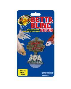 Zoo Med Betta Bling Skull Sign