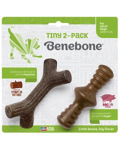 Benebone Tiny 2-Pack Maplestick & Zaggler
