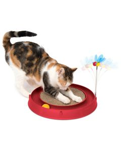 Catit Play Circuit with Scratch Pad Red