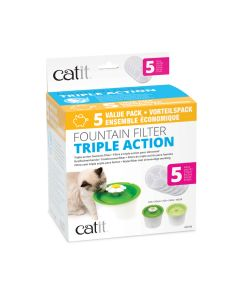Catit 2.0 Fountain Filter Triple Action [5 pack]