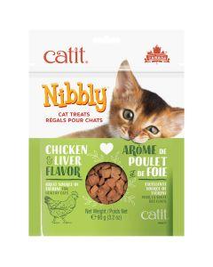 Catit Nibbly Chicken & Liver Cat Treats (90g)