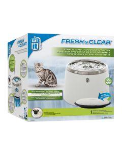 Catit Fresh & Clear Steel Top Fountain