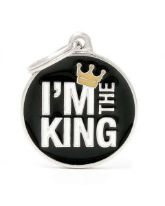 """My Family CHARMS Circle """"I'm The King"""" Pet ID Tag"""