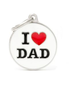 """My Family CHARMS Circle """"I Love Dad"""" Pet ID Tag"""