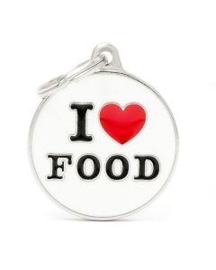 "My Family CHARMS Circle ""I Love Food"" Pet ID Tag"