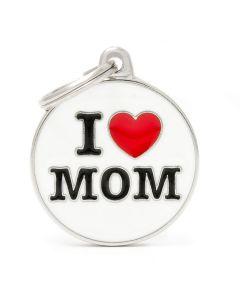 "My Family CHARMS Circle ""I Love Mom"" Pet ID Tag"