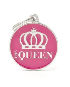 """My Family CHARMS Circle """"The Queen"""" Pet ID Tag"""