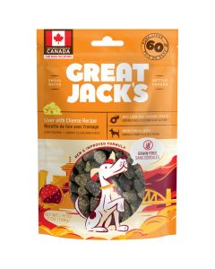 Great Jack's Liver with Cheese Recipe Grain Free Dog Treats [198g]