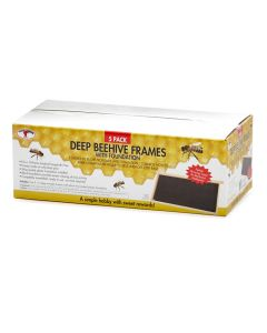 Little Giant Deep Beehive Frames with Foundation [5 Pack]