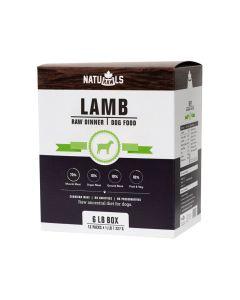 Naturawls Frozen Lamb Raw Dinner Dog Food [6lb]