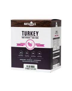 Naturawls Frozen Turkey Raw Dinner Dog Food [6lb]