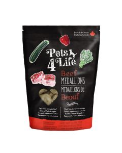 Pets4Life Frozen Beef Medallions Dog Food [3lb]