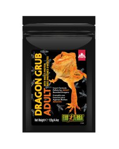 Exo Terra Dragon Grub Insect Formula Pellets for Adult Bearded Dragons [125g]